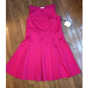 NWT Calvin Klein Pink Fit and Flare Dress